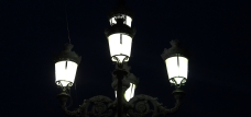 Street Lamp at night, Bilbao, Spain