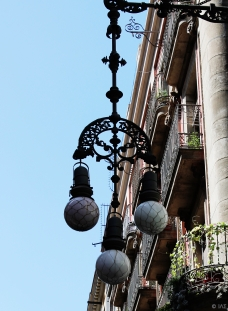 Street Lamp (Not an Earring), Barcelona, Spain